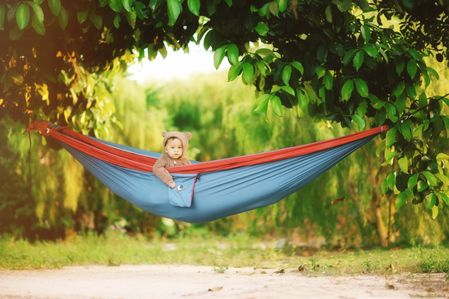 Portable double hammock as the family-friendly item